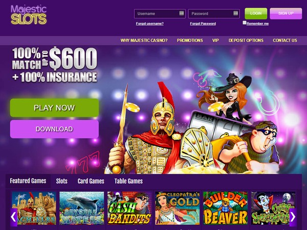 Majestic Slots Club Casino Screenshot