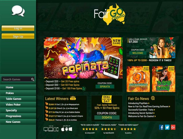Fair Go Casino Screenshot