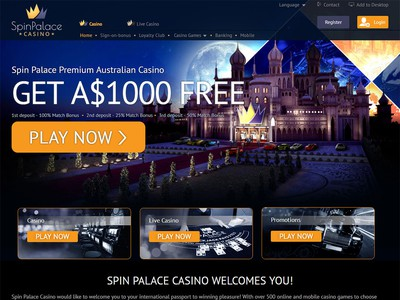 Spin Palace Casino Screenshot
